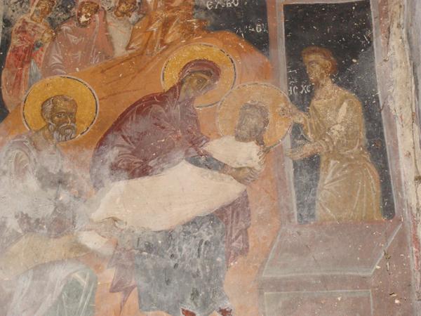 """Полагане в гроба, Църква """"Св. св. Петър и Павел"""", Беренде, XIV в."""