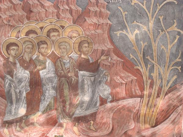 Проклинане на смоковницата, Сеславски манастир, XVII в.