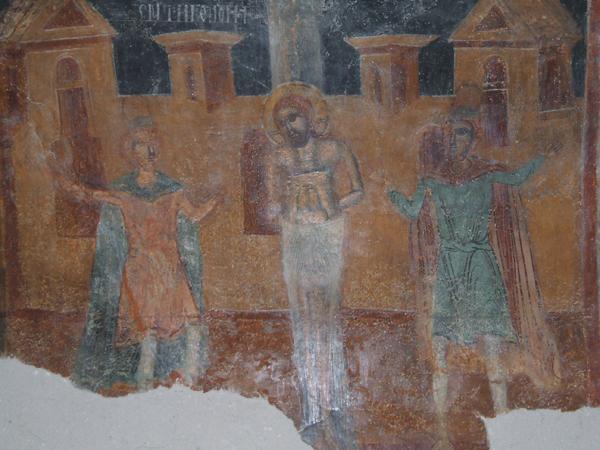 Бичуването на Христос, Илиянски манастир, XVII в.