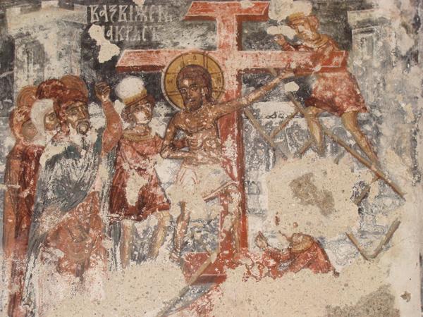 Възкачване на кръста, Алински манастир, XVII в.
