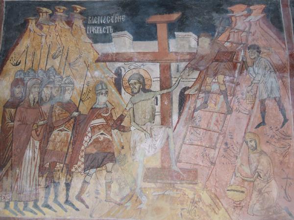 Възкачване на кръста, Струпецки манастир, XVII в.