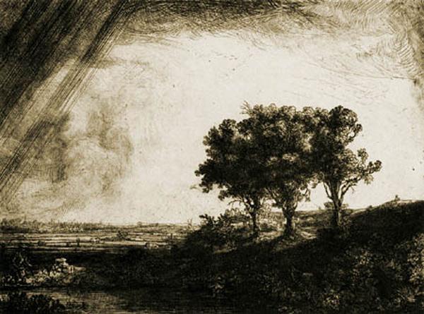 rembrandt Die_landschaft_mit_den_drei_baeumen