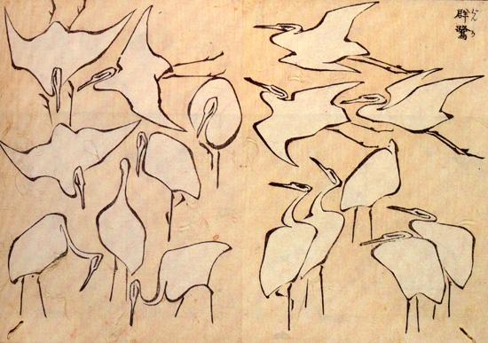 Cranes_Hokusai