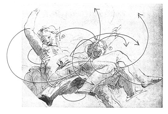 Рисунка на хореографа Уилям Форсайт