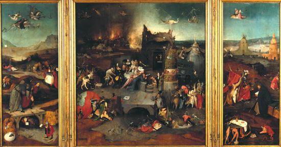 """""""Изкушението на свети Антоний"""", триптих, Национален музей, Лисабон"""