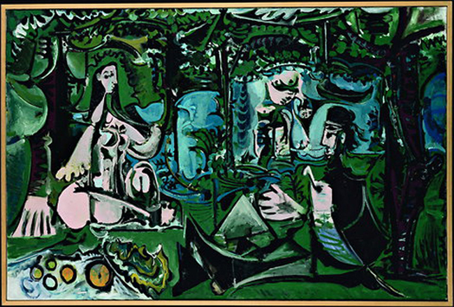 Закуска на тревата по Мане. 1961. Национален музей на Пикасо, Париж