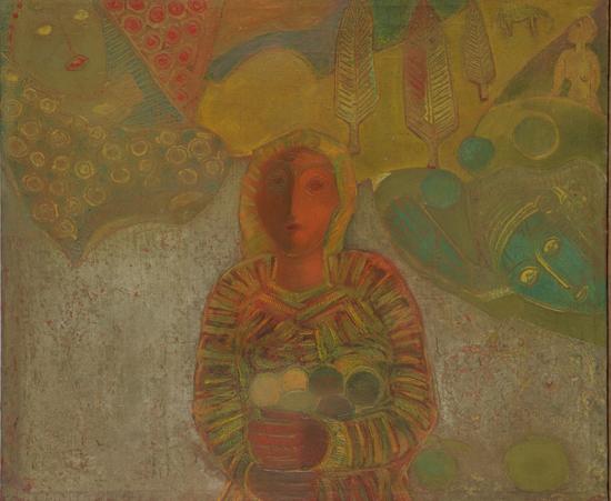 Момиче с плодове, 1976 г., Национална галерия