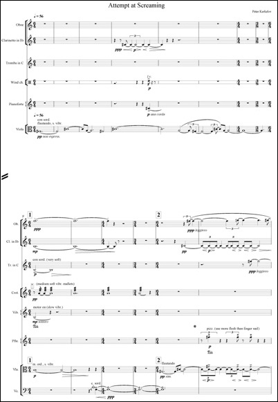 Attempt at Screaming - Score in C REVISED