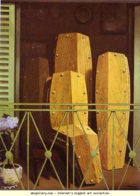 Рене Магрит, Балконът, 1950