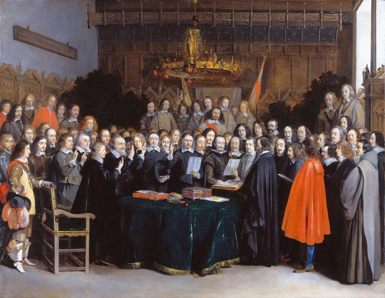 Герард Терборх, Ратификацията на Мюнстерския договор, 1648 г.