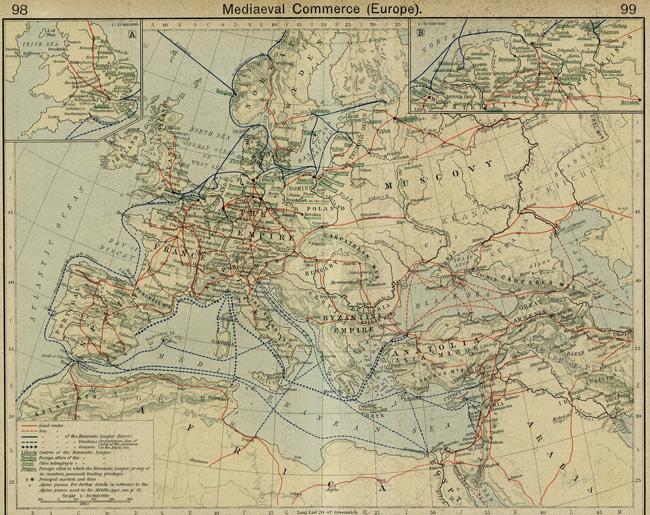Търговски пътища в Средновековна Европа