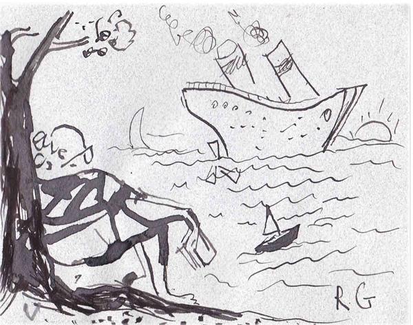 """Резо Габриадзе, Юз на морския бряг, Из сборника """"Четения по случай 80-годишнината на Юз Алешковски"""", 2010"""