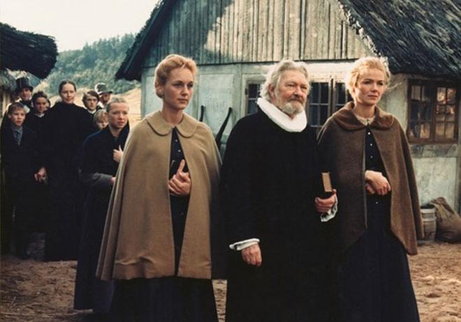 """Кадър от филма """"Пирът на Бабет"""", реж. Габриел Аксел, 1987 г."""