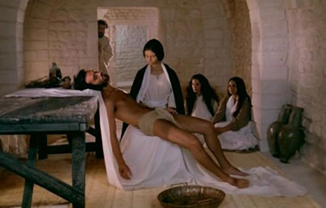 """Кадър от филма """"Месията"""", реж. Роберто Роселини, 1975 г."""