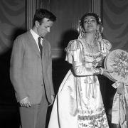 Дзефирели с Мария Калас в Скалата репетиции на Турчинът в Италия, Росини, 1955