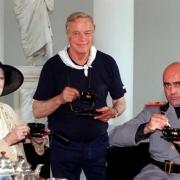 По време на снимките на Чай с Мусолини1
