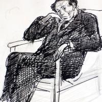83Б2-Рисунка-автопортрет_1940-те_Плевен1